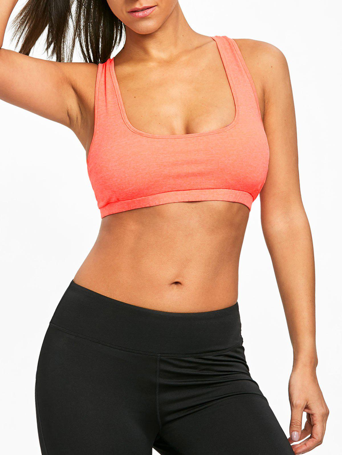 Fancy Padded Strappy Crisscross Performance Sports Bra