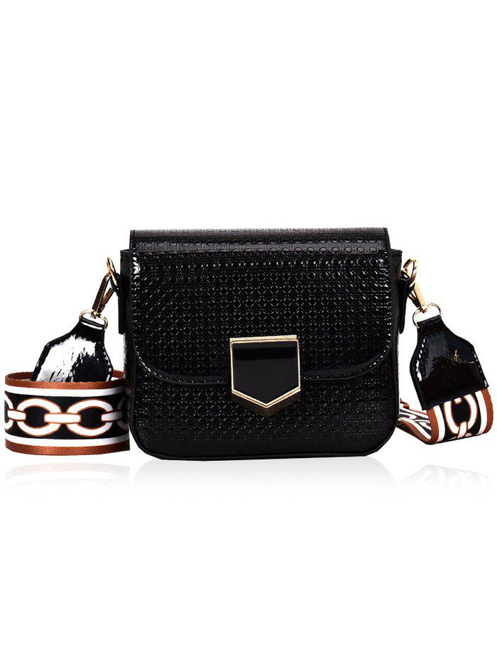 Fashion Printed Strap Embossed Crossbody Bag