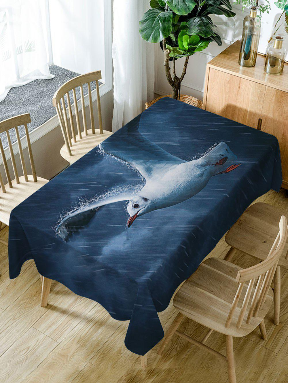 Fashion Pigeon Rainy Print Fabric Waterproof Dining Table Cloth