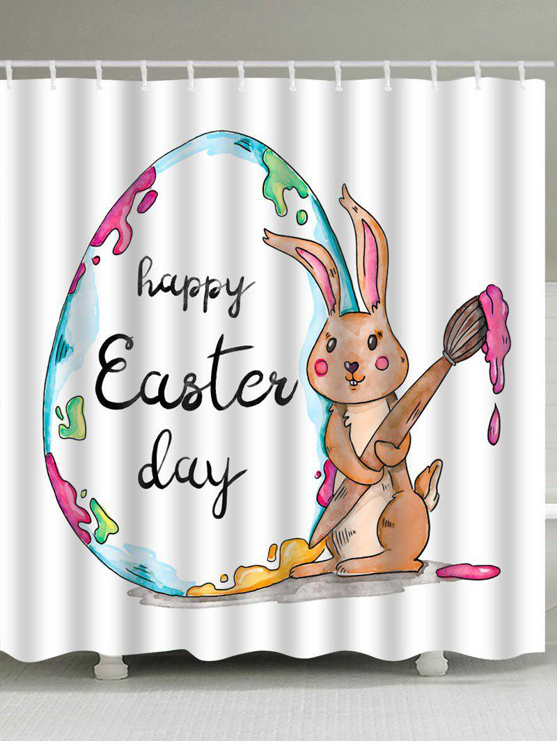 Store Easter Day Rabbit Theme Print Shower Curtain