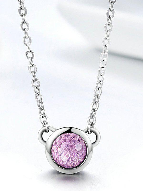 Sale Artificial Crystal Sterling Silver Collarbone Necklace