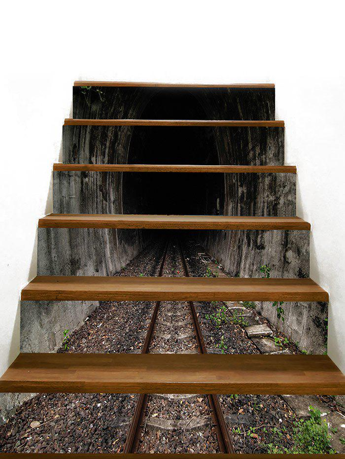 Fashion Removable Tunnel Railway Decorative Stair Stickers