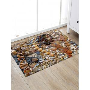 Stone Conch Print Water Absorption Area Rug -