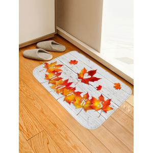 Autumn Maple Leaf Water Absorption Area Rug -
