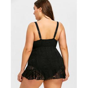 Plus Size Lace One Piece Swimwear -