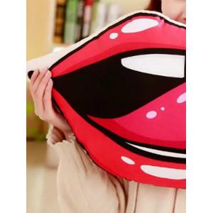 Lip Shaped Soft Throw Pillow -