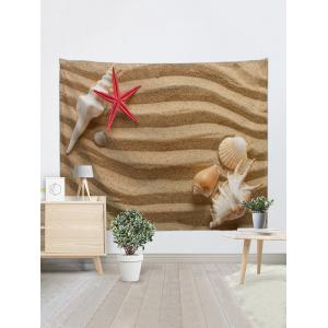 Sable Conch Starfish Imprimer Wall Art Tapisserie -