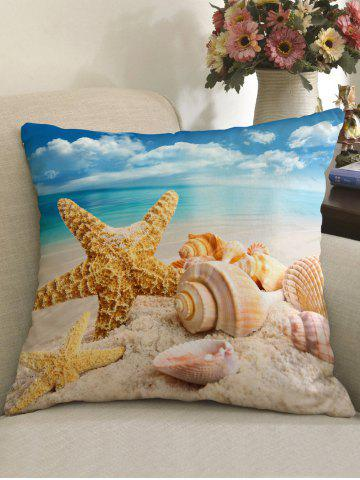 Fashion Starfish Conch Beach Print Throw Pillow Case