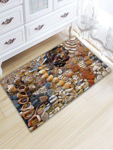 Fashion Stone Conch Print Water Absorption Area Rug