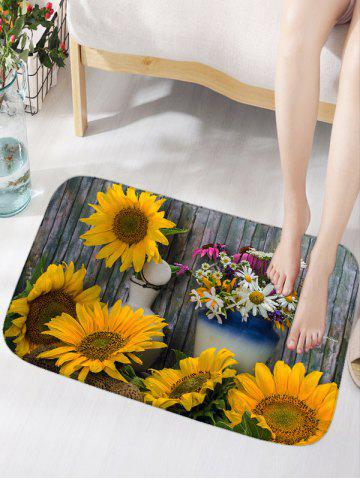 Outfit Flower Board Print Water Absorption Area Rug