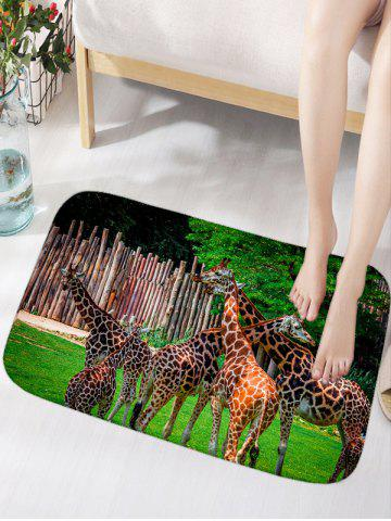 Hot Giraffe Print Water Absorption Area Rug
