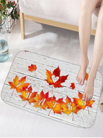 Fancy Autumn Maple Leaf Water Absorption Area Rug