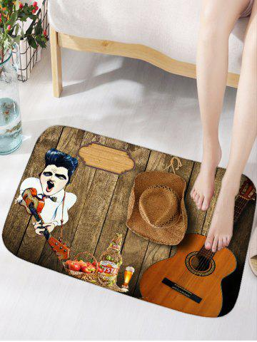 Fashion Guitar Board Print Water Absorption Area Rug