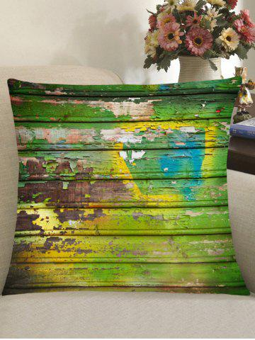 Fashion Old Wood Plank Print Square Pillow Case