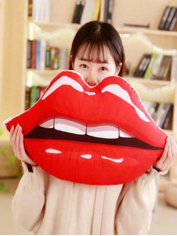 Trendy Lip Shaped Soft Throw Pillow
