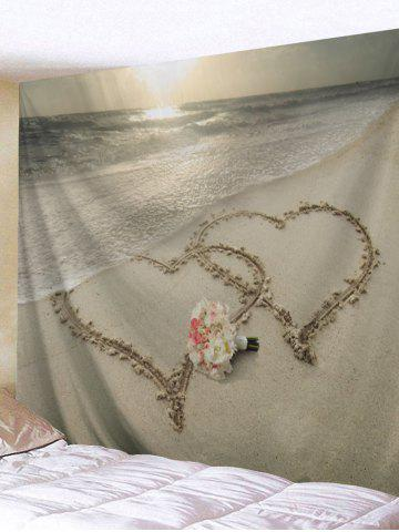 New Beach Joint Heart Flowers Bunch Print Tapestry