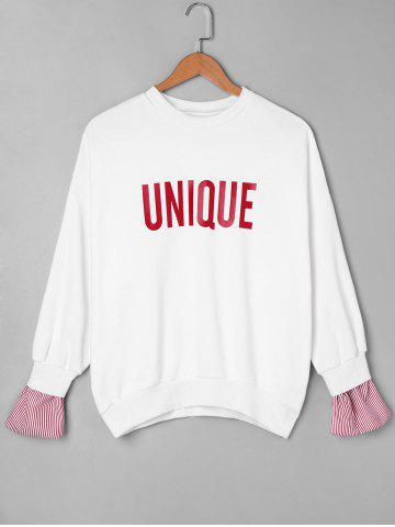 Sweat-shirt Unique à Bordure Rayée