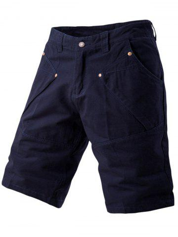 Outfit Zipper Fly Casual Shorts