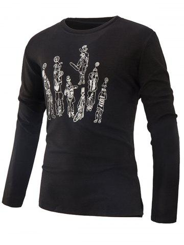 Affordable Crew Neck Printed T-shirt