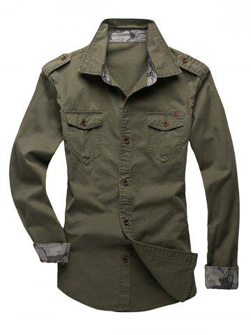 Cheap Epaulet Design Fatigue Shirt