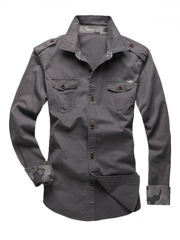 Trendy Epaulet Design Fatigue Shirt