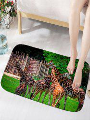 Giraffe Print Water Absorption Area Rug -