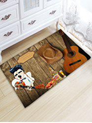 Guitar Board Print Water Absorption Area Rug -
