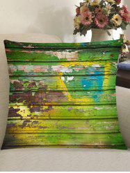 Old Wood Plank Print Square Pillow Case -