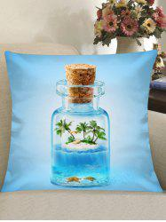 Wishing Bottle Pattern Home Decor Pillowcase -