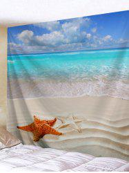 Beach Starfishes Printed Wall Decor Tapestry -