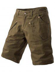 Zipper Fly Casual Shorts -