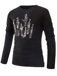 Crew Neck Printed T-shirt -