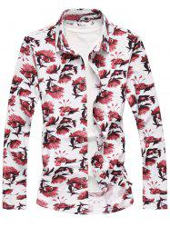 Floral Pattern Long Sleeve Shirt -