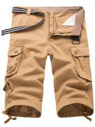 Panel Design Bermuda Shorts -