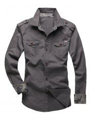 Epaulet Design Fatigue Shirt -