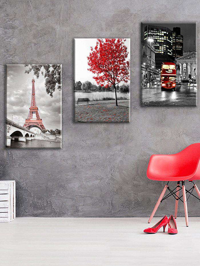 Eiffel Tower Paris Street Print Unframed Canvas Paintings