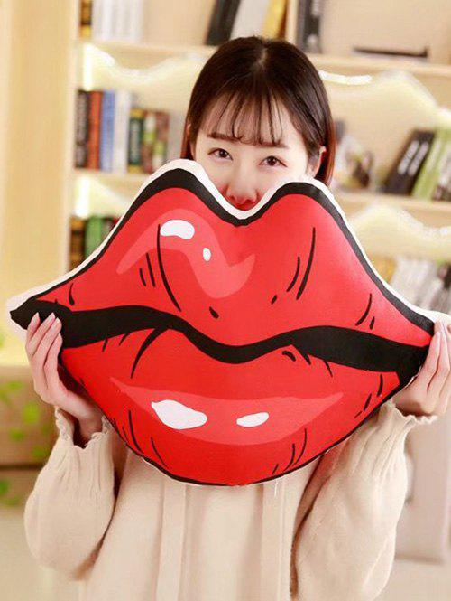 Fancy Lip Shaped Soft Throw Pillow