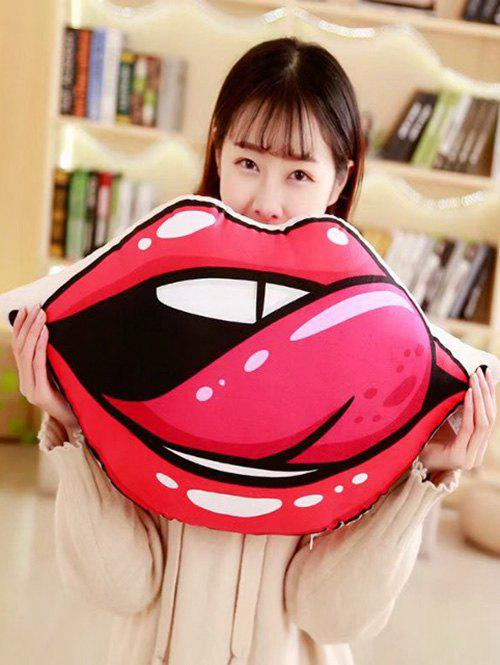 Unique Lip Shaped Soft Throw Pillow