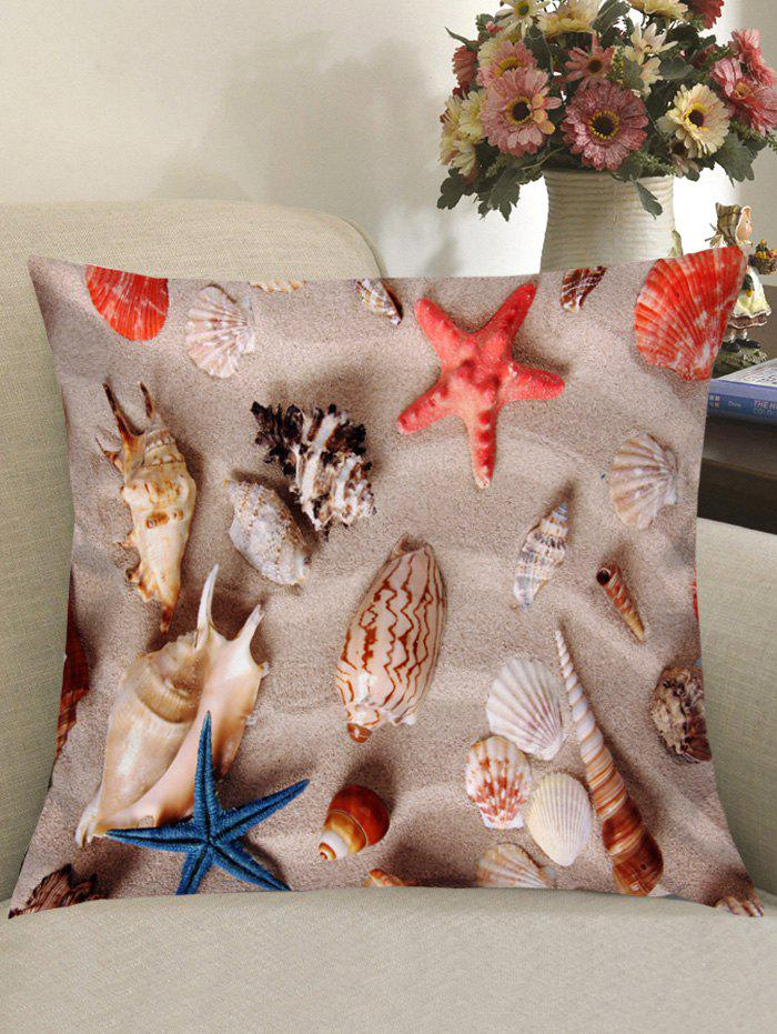 Store Beach Starfishes Shells Printed Pillow Case