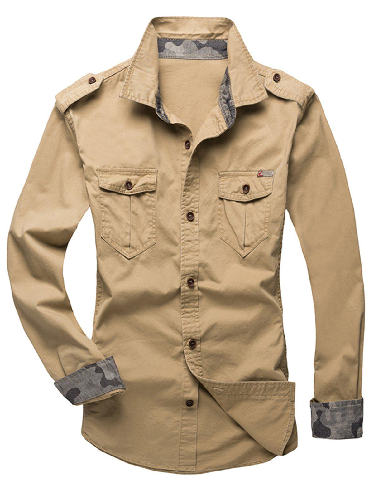 Affordable Epaulet Design Fatigue Shirt