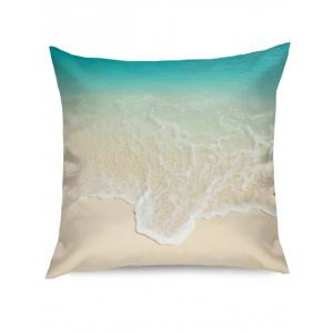 Beach Wave Print Linen Pillowcase -
