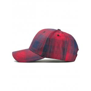 Unique Plaid Pattern Snapback Hat -