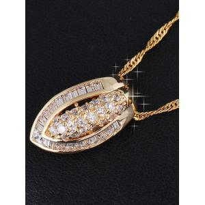 Simple Alloy Rhinestone Pendant Necklace -