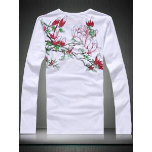 Crew Neck Beautiful Printed T-shirt -