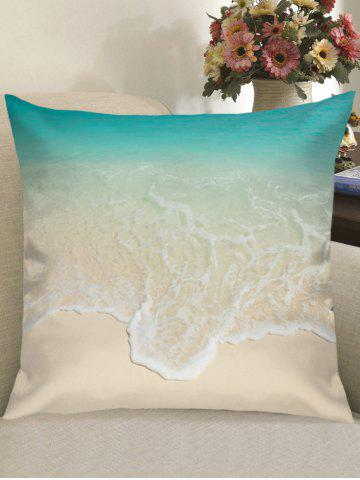Sale Beach Wave Print Linen Pillowcase