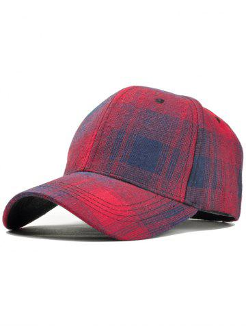 Affordable Unique Plaid Pattern Snapback Hat