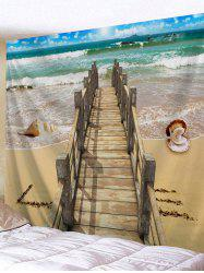 Beach Shell Wood Bridge Print Tapestry Wall Hanging Decor -