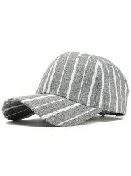 Simple Stripe Pattern Adjustable Sunscreen Hat -