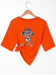 Sequined Graphic Front T-shirt -
