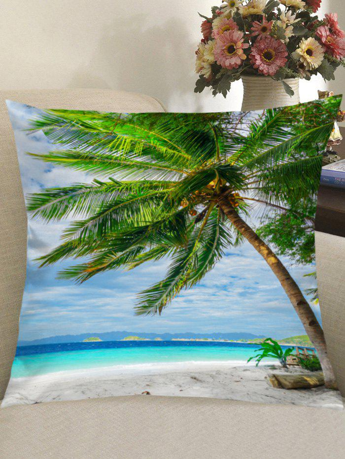 Outfits Beach Palm Tree Print Decorative Linen Pillowcase